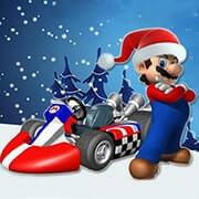 Christmas Mario Kart.Play Super Mario Xmas Kart Online For Free Ufreegames Com